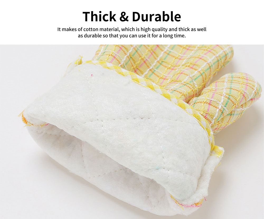 Cotton Microwave Oven Gloves, Heat Insulating Gloves with Gorgeous Plaid 1