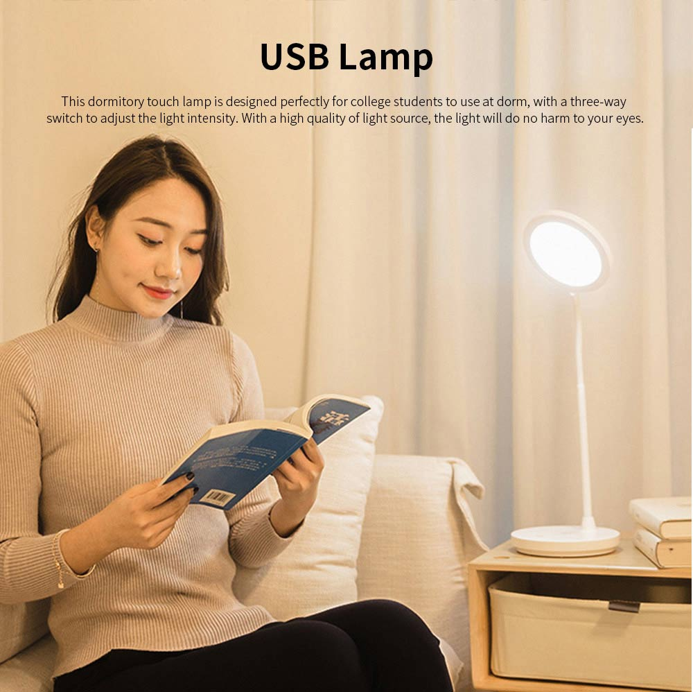 Chargeable Eye-caring USB Lamp, LED Clamp Lamp for Kids and Students, Touch Control 0