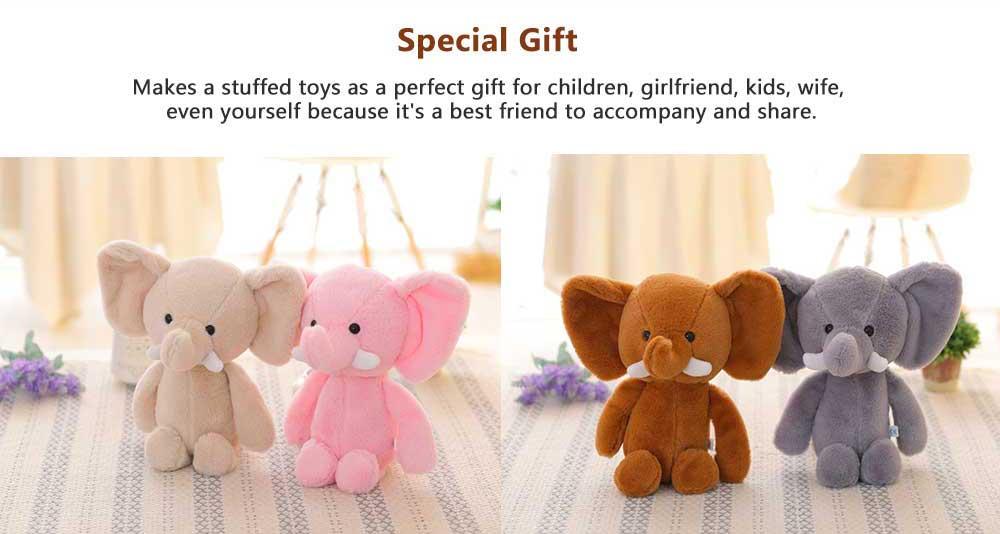 Elephant Stuffed Animal for Baby, Cute Rabbit Doll with Long Ears  2
