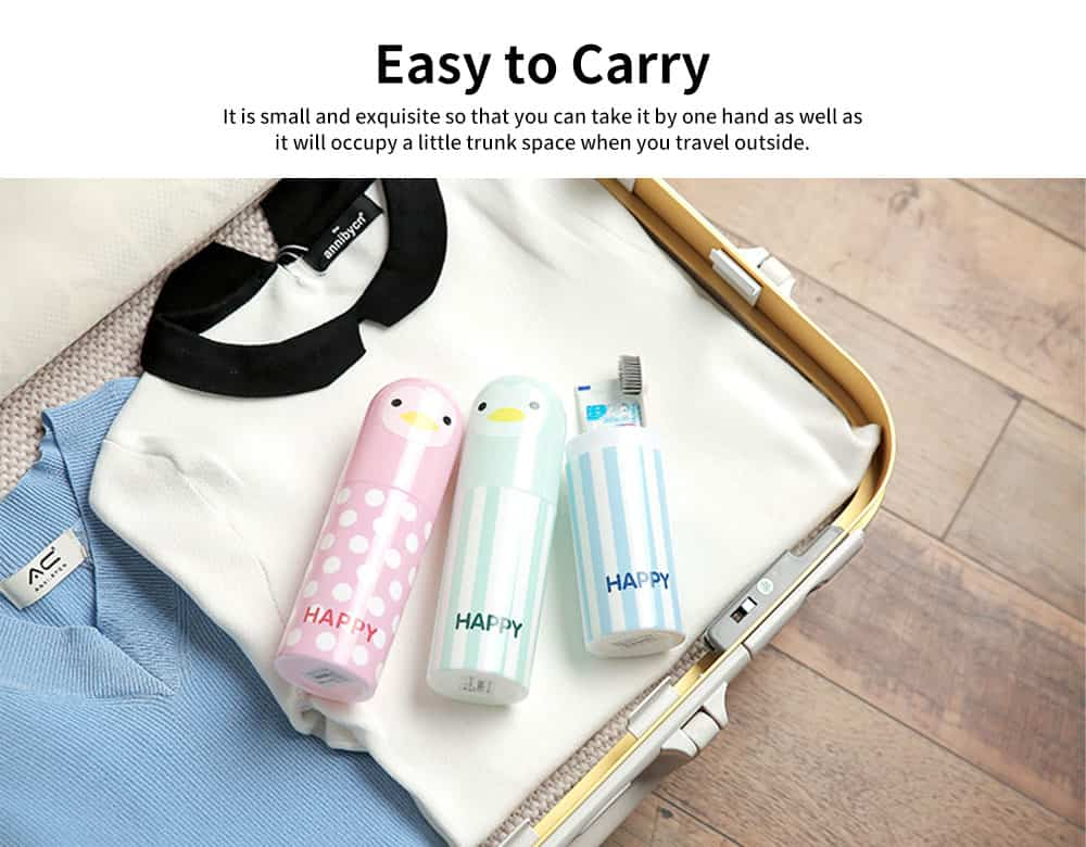 Cartoon Travel Toothbrush Box, Cute Penguin Toothbrush Travel Containers 2