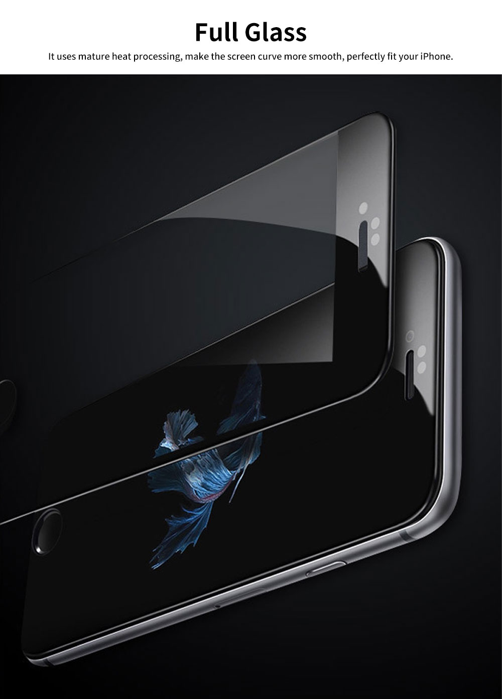 Tempered Glass Screen Protector for iPhone Full Screen Protect 1