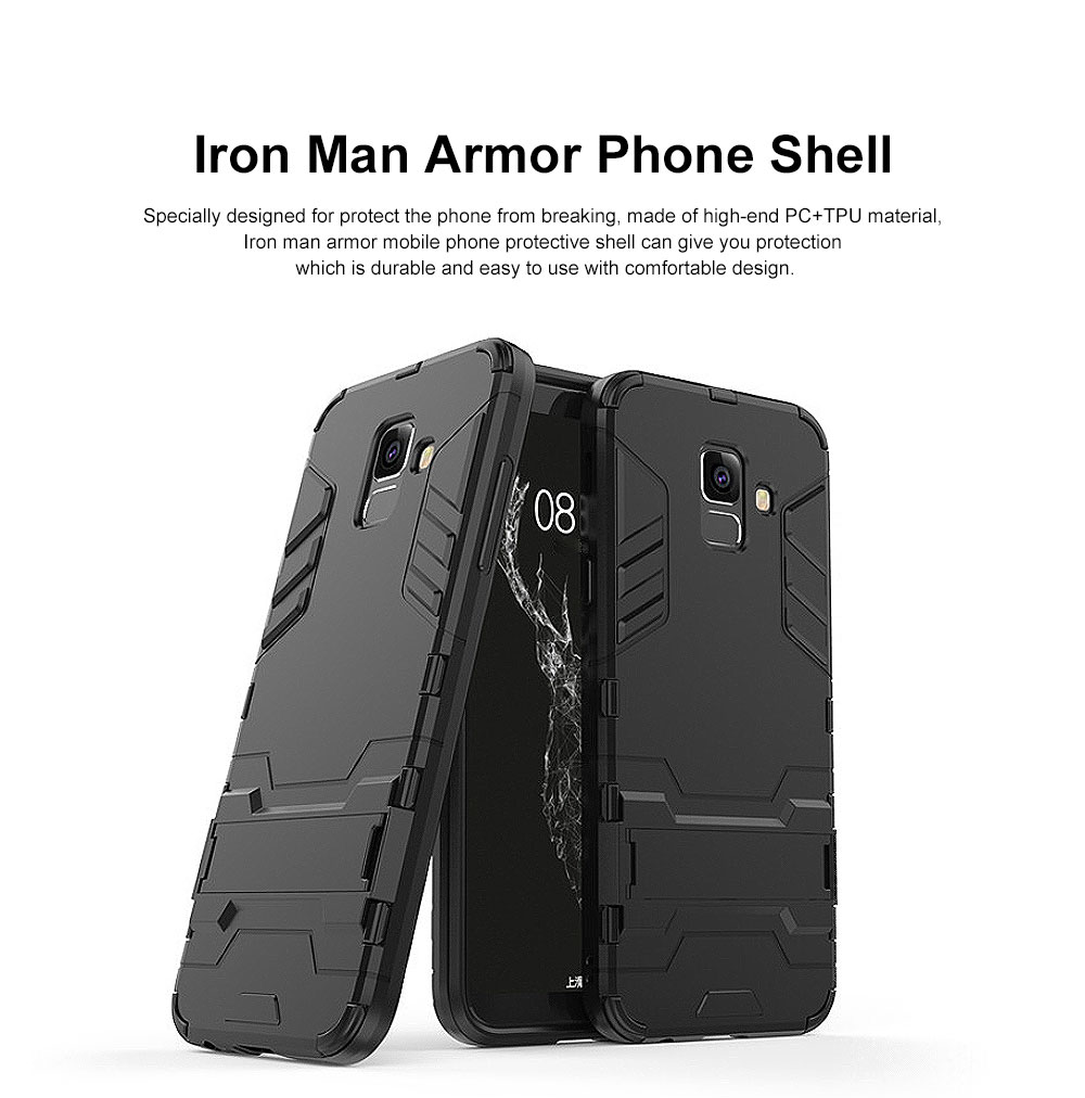 Iron Man Phone Case for Samsung A6, A6 Plus 2018, Armor Phone Protective Shell With Contact Support 16