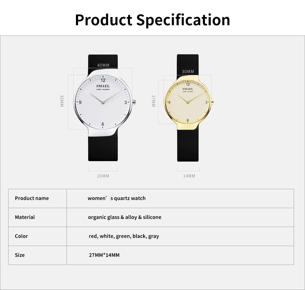 Best Women's Casual Watches 2019 New Korean Style Quartz Watch With Silicone Strap 6