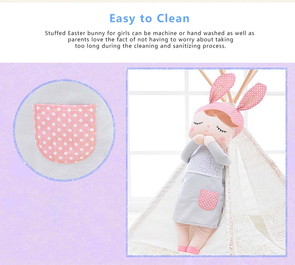 Metoo Plush Rabbits Angela Girl Cuddy Doll, Dreams Appease Doll Gifts for Toddlers 5