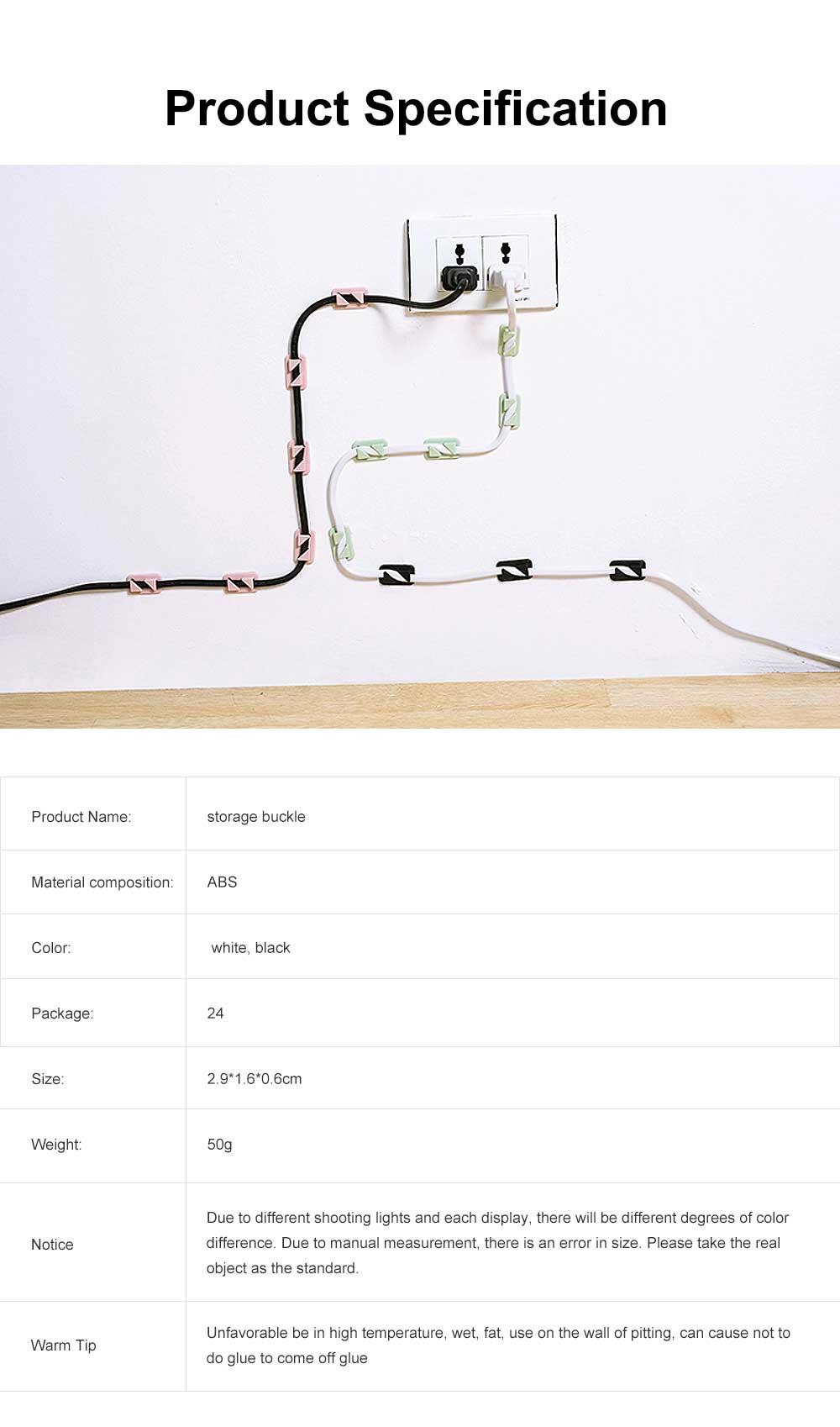 Punch Free Paste Line Divider, 24 Wire Holder Organizer Clips 7