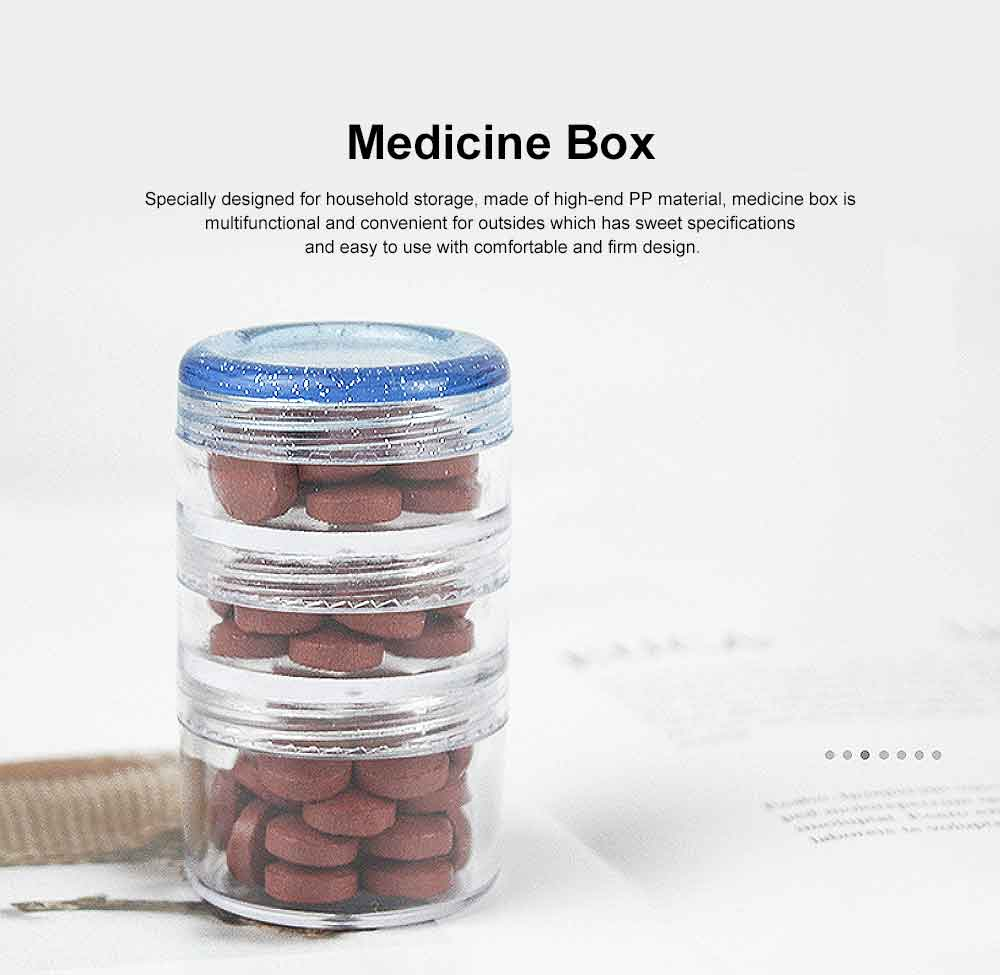 Clear Stacking Pill Organizer, Multifunctional Food Protein Powder Drug Bottle Box 0