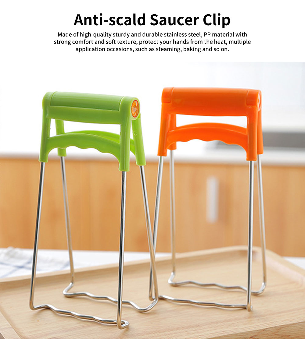 Anti-scald  Dish Clamp Clip, Bowl Clip with 180 Degrees of Opening and Closing 0