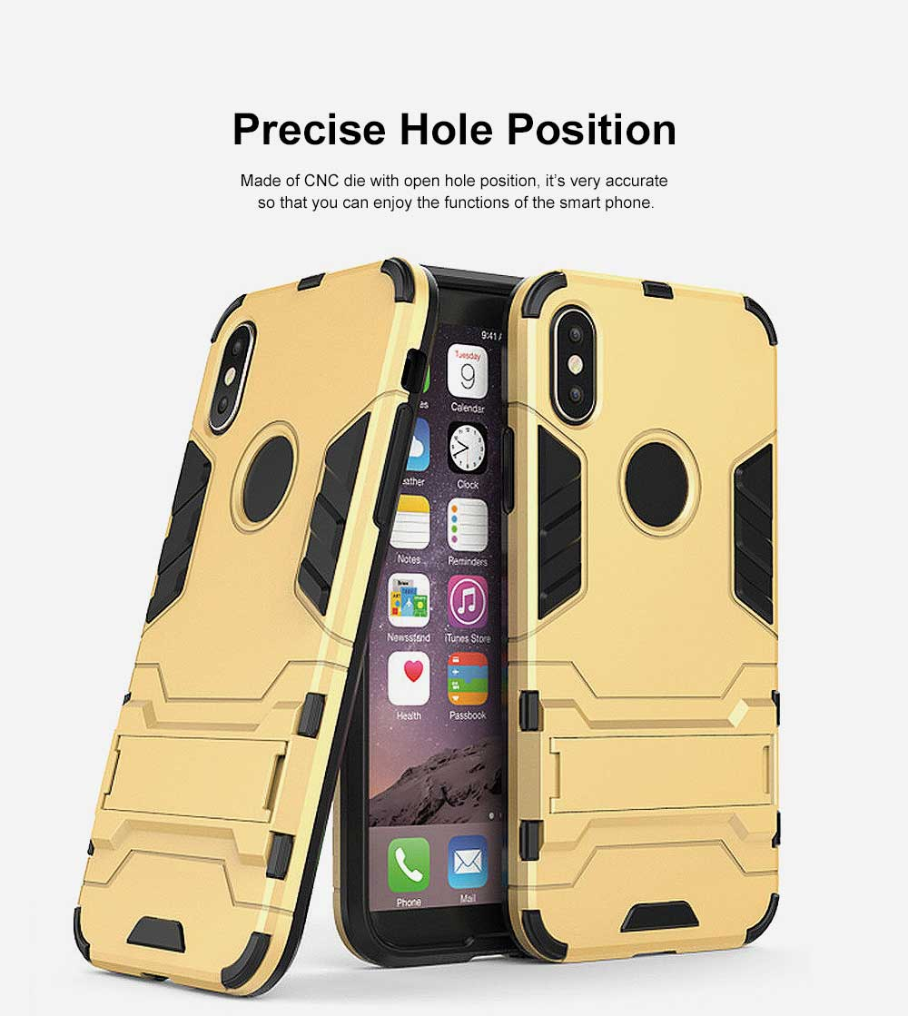 Iron Man Armor Phone Case for All iPhone, Anti-fall Phone Protective Shell with Panther Design 3