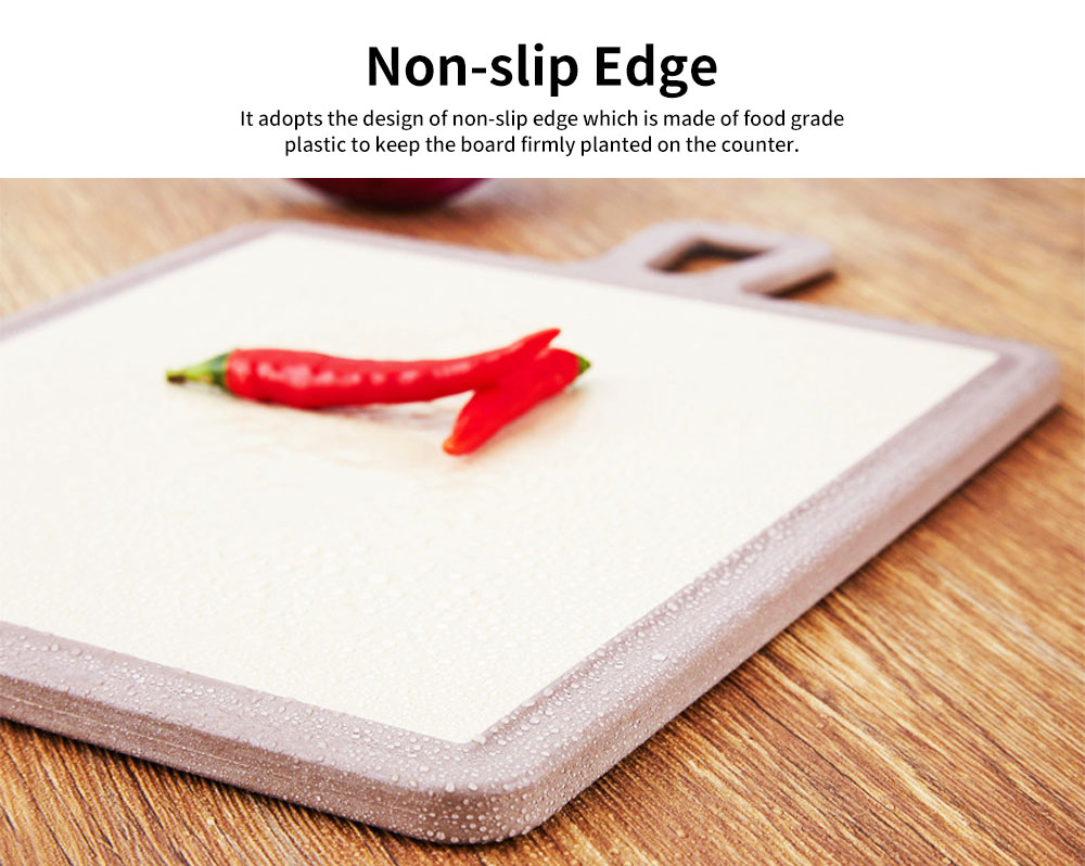 Plastic Chopping Board Set with Groove, Wheat Straw Kitchen Anti-mildew Cutting Board 3