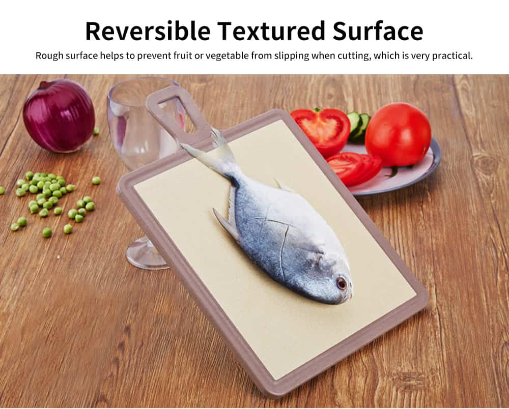 Plastic Chopping Board Set with Groove, Wheat Straw Kitchen Anti-mildew Cutting Board 2