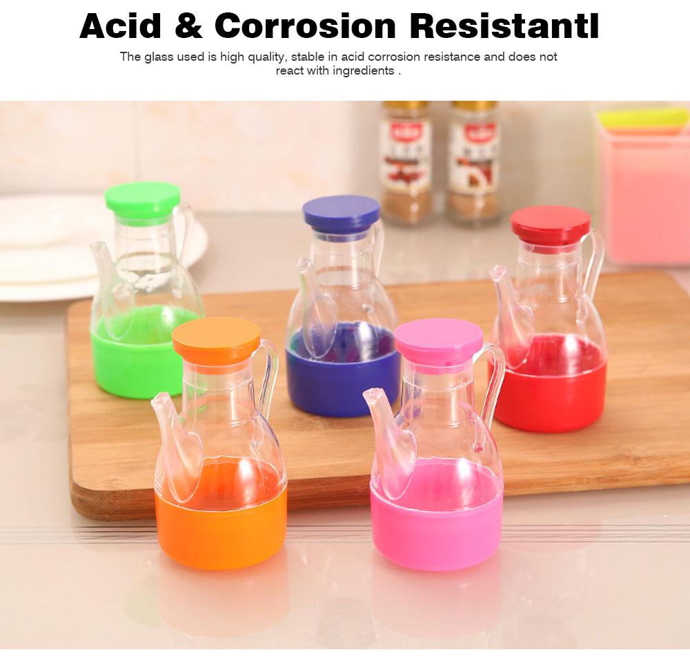 Acrylic Small Oil Pot, Leak-proof Color Oil Pot for Putting Soy, Sauce, Sesame Oil 4