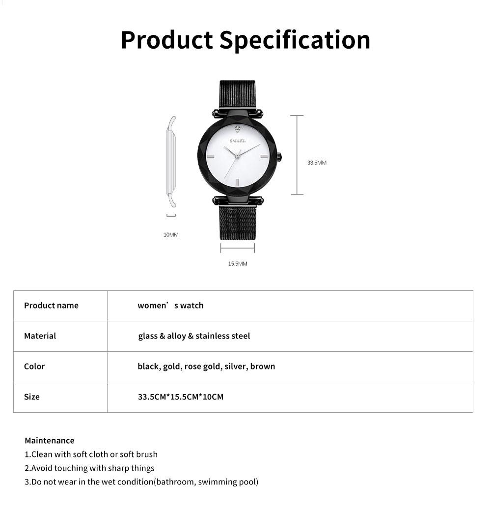 Women's New Fashionable Quartz Watch Korean Style Metal Strap Watch 6
