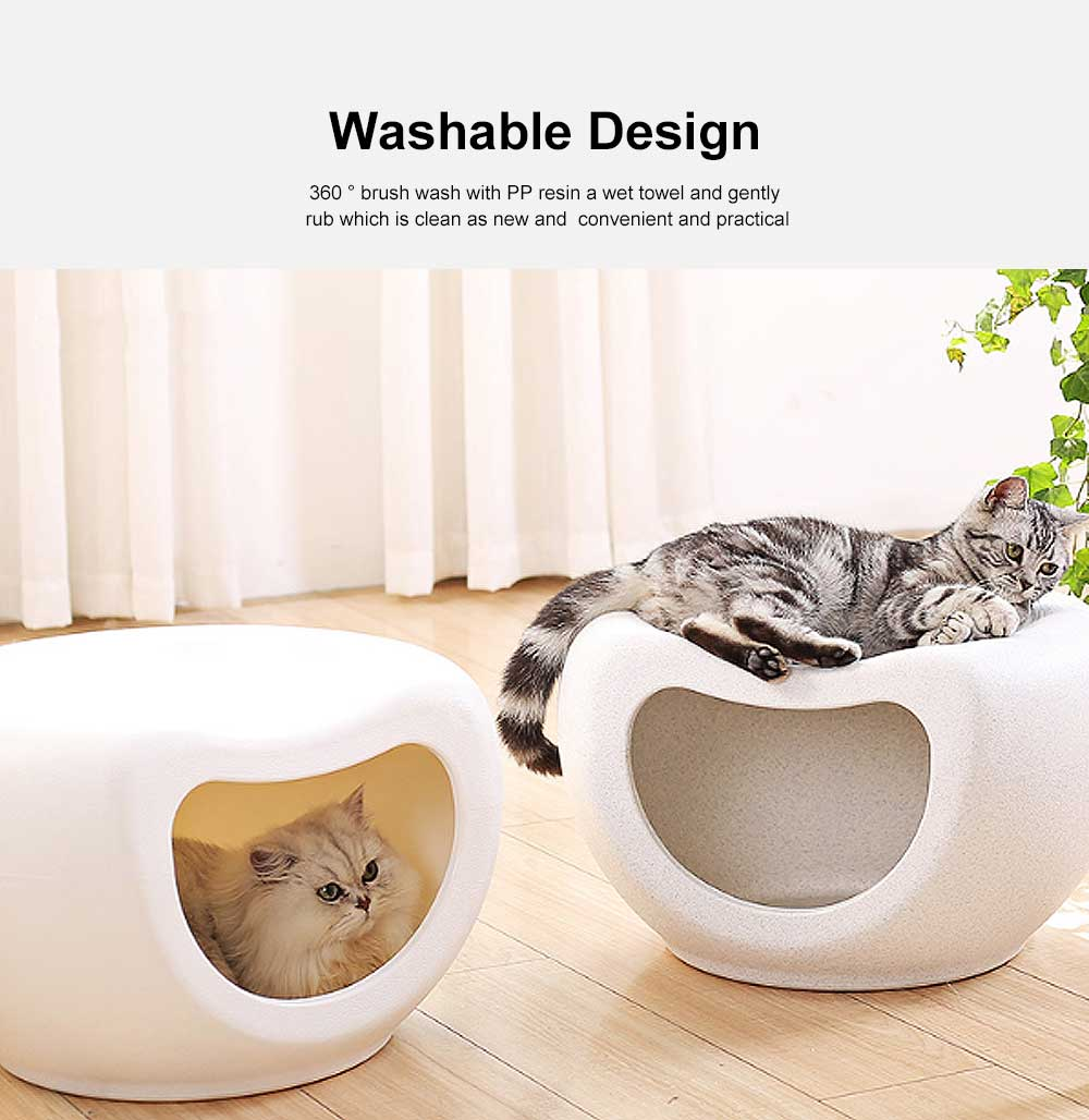 Semi Closed Cat Litter, Durable & Convenient Cat Cave Pet Bed 3