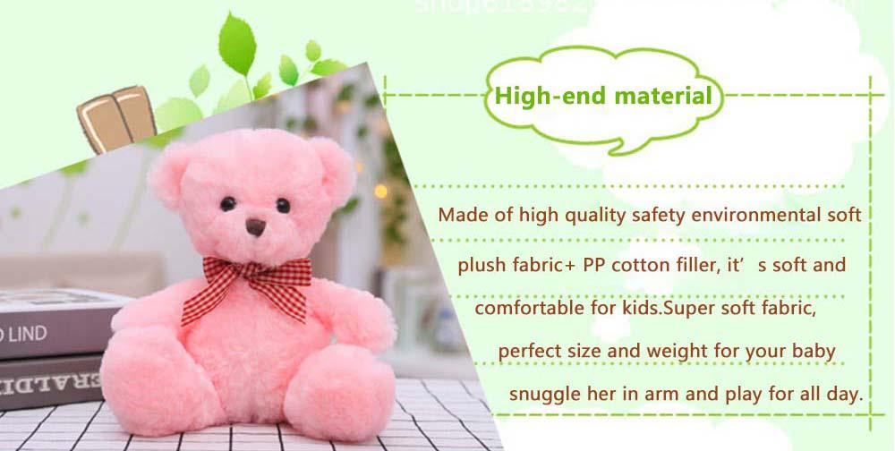 Teddy Bear Plush Toy, Girls Children Birthday Gift, Company Wedding Gift Doll 4
