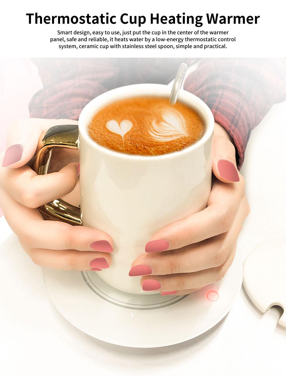55 Degree Thermostatic Mug Heating Warmer for Hot Milk, Warm Tea, Warm Coffee, Warm Water 0