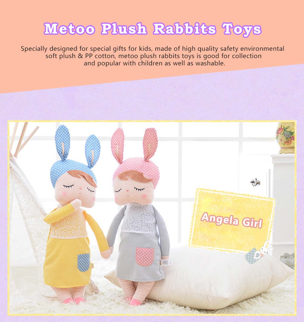 Metoo Plush Rabbits Angela Girl Cuddy Doll, Dreams Appease Doll Gifts for Toddlers 0