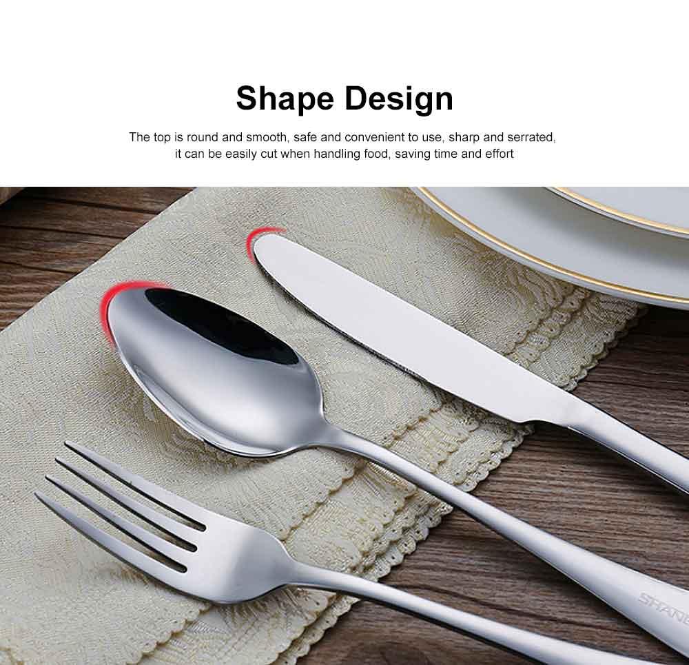 Stainless Steel Silverware Flatware Set, Include Mirror Polished Knife Fork Spoon  2