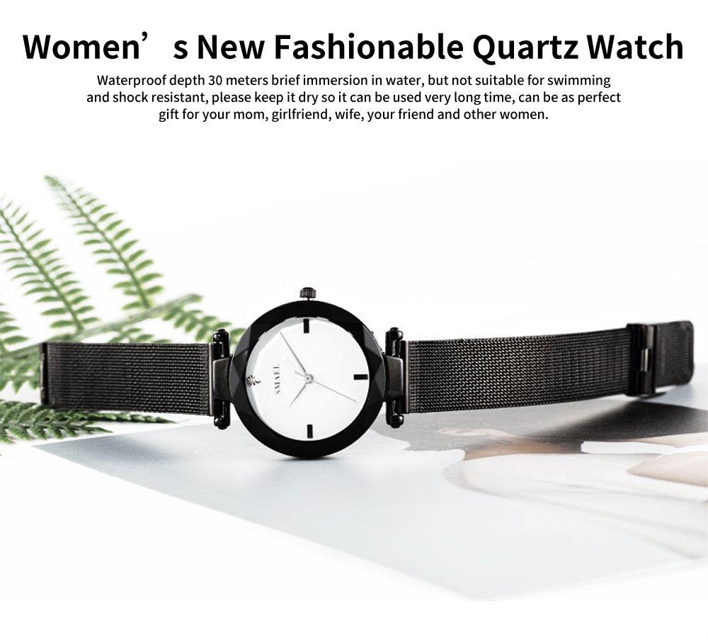 Women's New Fashionable Quartz Watch Korean Style Metal Strap Watch 0