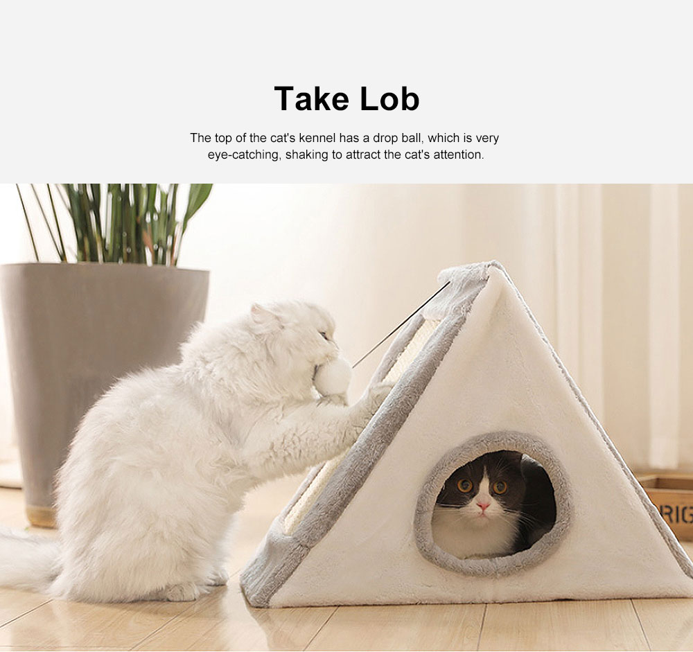 Collapsible Cat Litter with Sandwich Design, Portable Cat Litter Box  for Four Seasons Universal 5