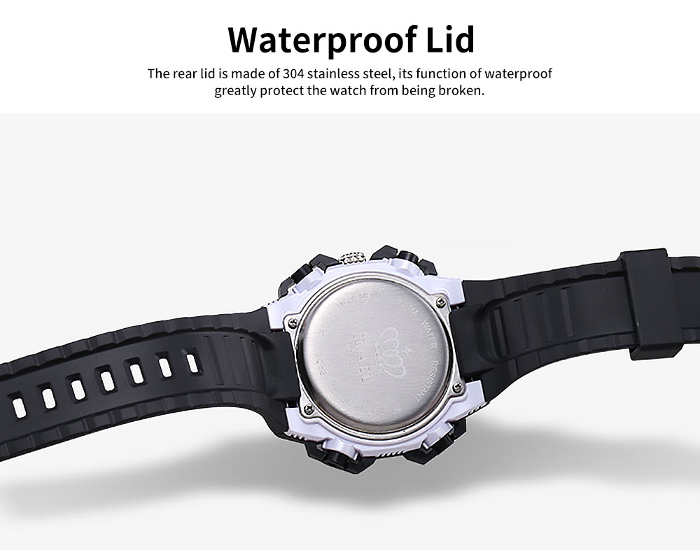 Men's Dual-replay Sport Watch, Waterproof & Fashionable Watch with Strap for Outdoor Use 4