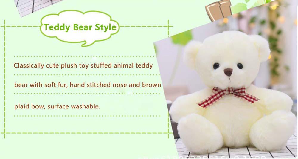 Teddy Bear Plush Toy, Girls Children Birthday Gift, Company Wedding Gift Doll 3