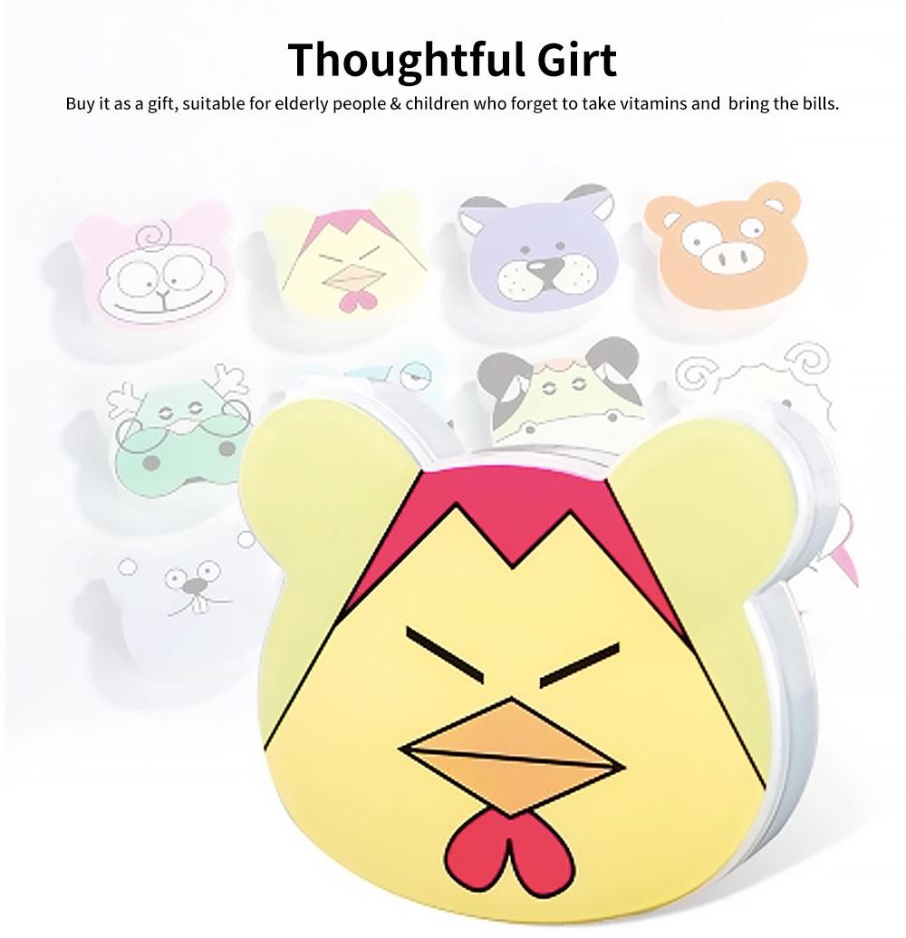 Cute Animal Pill Case, Mini Cartoon Animal Pattern Pill Storage Box For Children 4