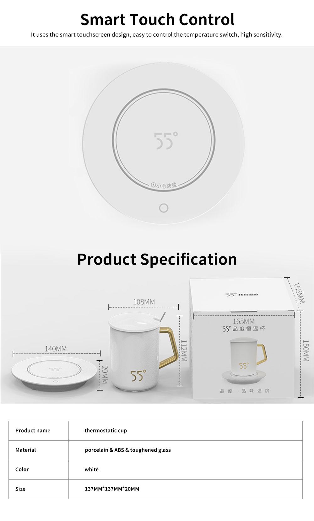 55 Degree Thermostatic Mug Heating Warmer for Hot Milk, Warm Tea, Warm Coffee, Warm Water 5