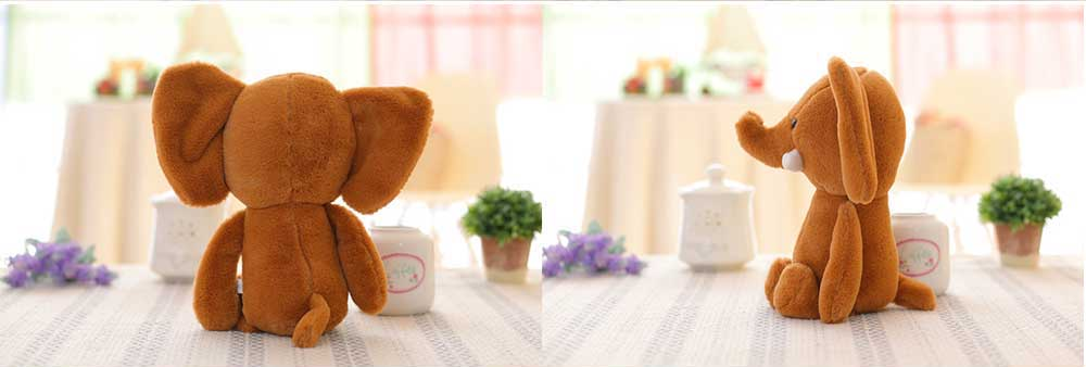 Elephant Stuffed Animal for Baby, Cute Rabbit Doll with Long Ears  6