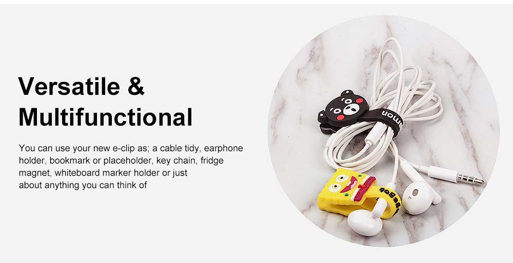 Soft Silicone Wire Cable Organizer, Cartoon Animals Line Manager for Data Cable 3
