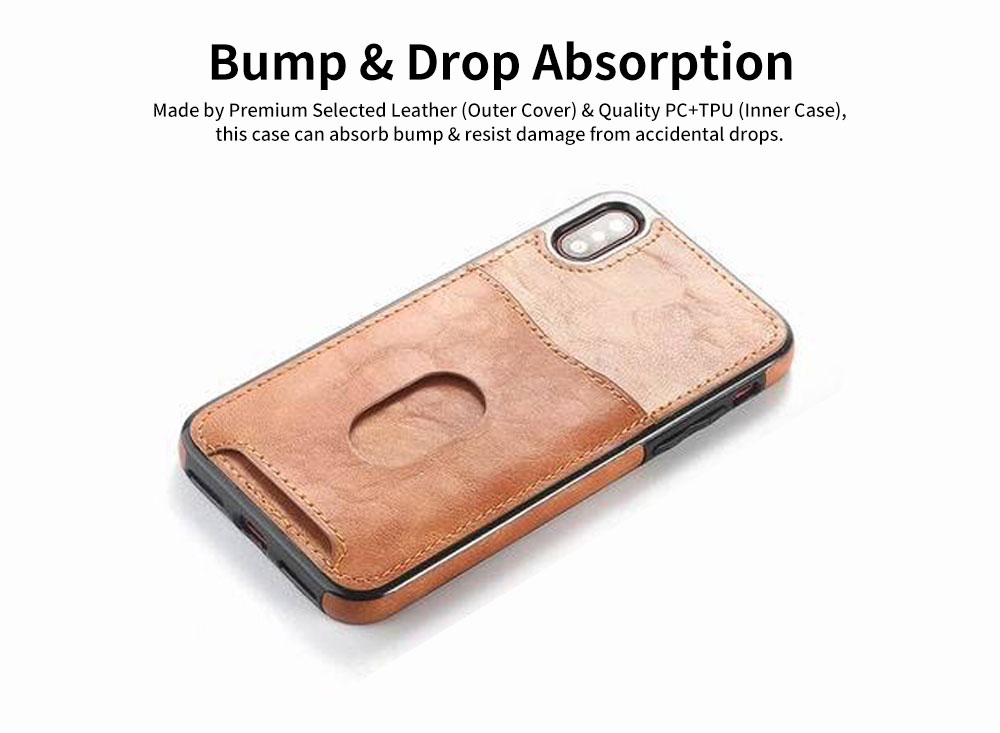 Detachable Leather Wallet Case for iPhone 7/8 Plus, iPhone X, High Quality Two-in-one Phone Case 3