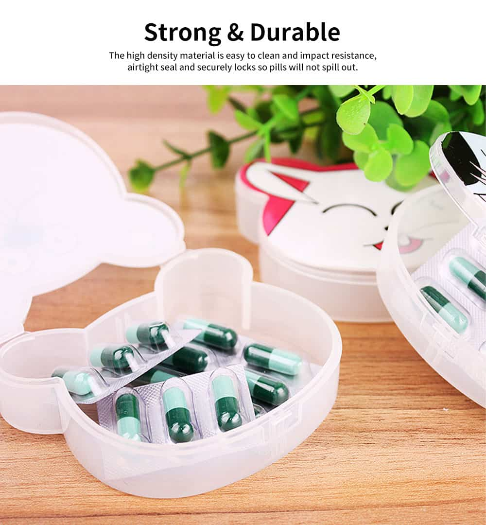 Cute Animal Pill Case Mini Cartoon Animal Pattern Pill Storage Box For Children 3