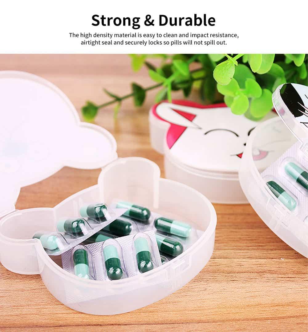 Cute Animal Pill Case, Mini Cartoon Animal Pattern Pill Storage Box For Children 3