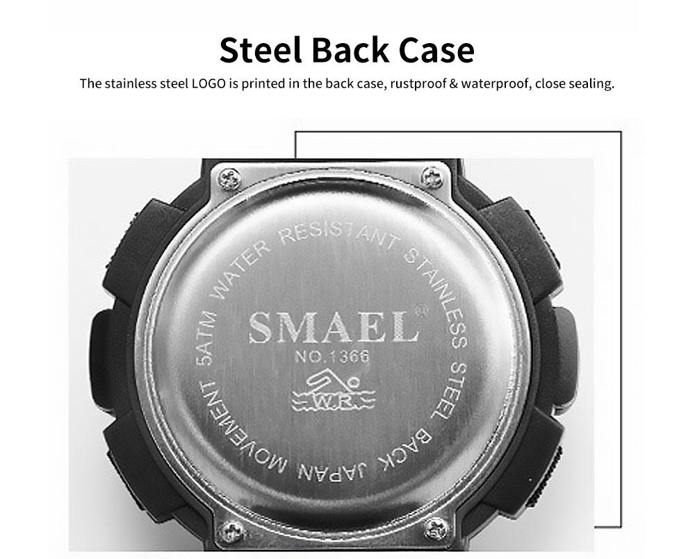 Men's Waterproof Sport Watch, Shockproof Digital Watch with Stainless Steel for Outdoor Use 3