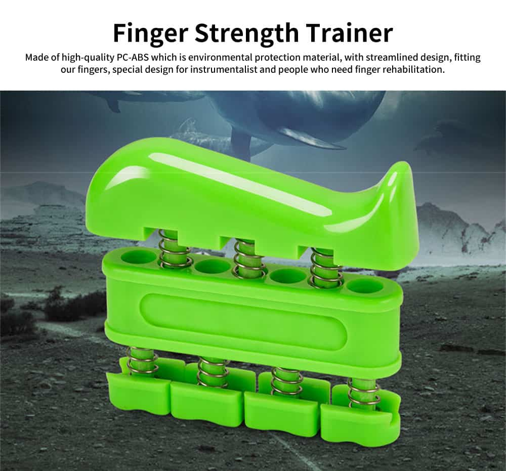Finger Strength Trainer with Spring Steel Wire, PC-ABS Finger Rehabilitation Exercise Tool 0