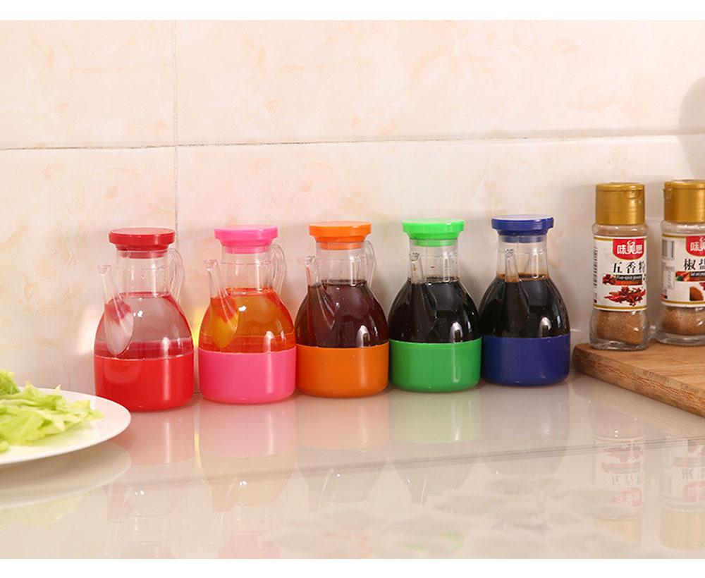 Acrylic Small Oil Pot, Leak-proof Color Oil Pot for Putting Soy, Sauce, Sesame Oil 5