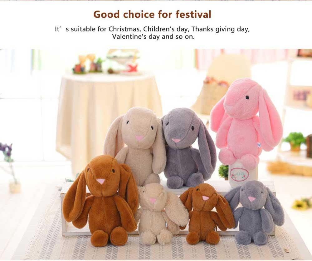 Elephant Stuffed Animal for Baby, Cute Rabbit Doll with Long Ears  3