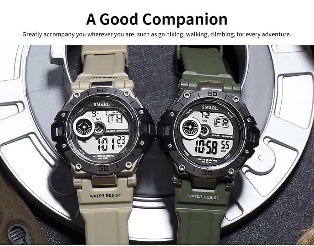 Men's Shockproof Sport Watch with Resin Strap, Digital Waterproof Watch for Outdoor Use 2