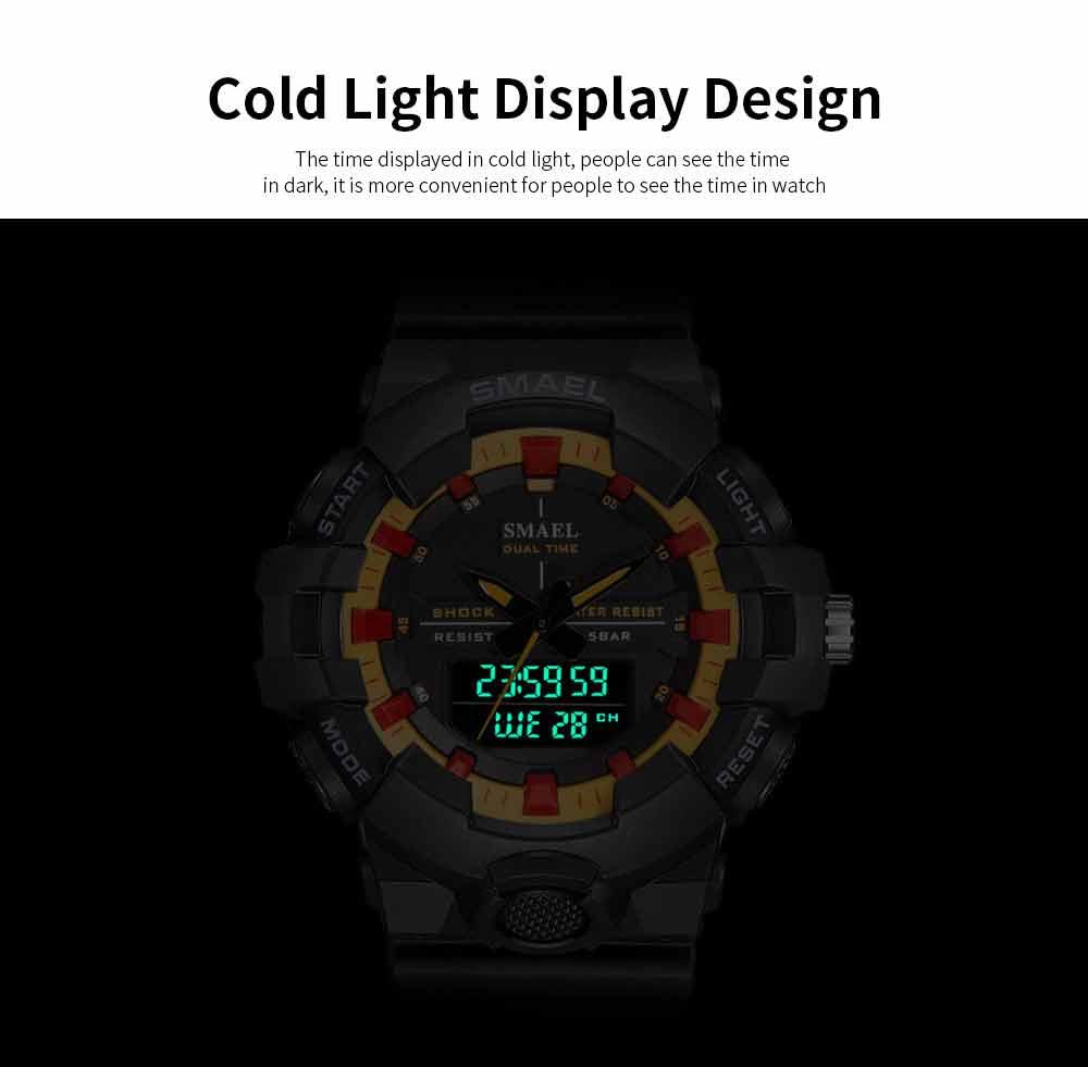 Outdoor Sports Watch, Multi-function Electronic Water Resistant Digital Quartz Wrist Watch 4