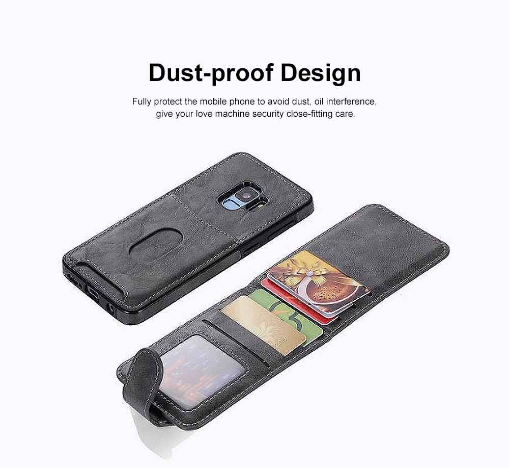 Leather Phone Cover, Detachable Two-in-one Split Mobile Phone Protective Shell for S8, S9, NOTE8, iPhone 4