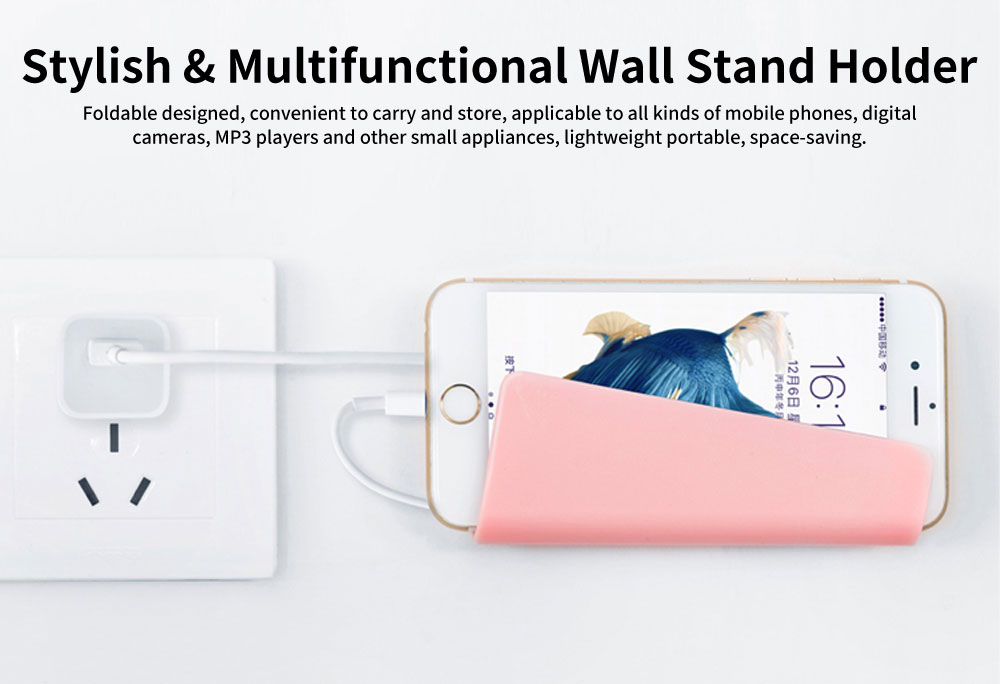 Universal Wall Charger Stand Mount Holder Base Support for iPhone Samsung Huawei 0