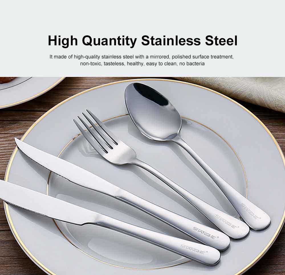 Stainless Steel Silverware Flatware Set, Include Mirror Polished Knife Fork Spoon  1