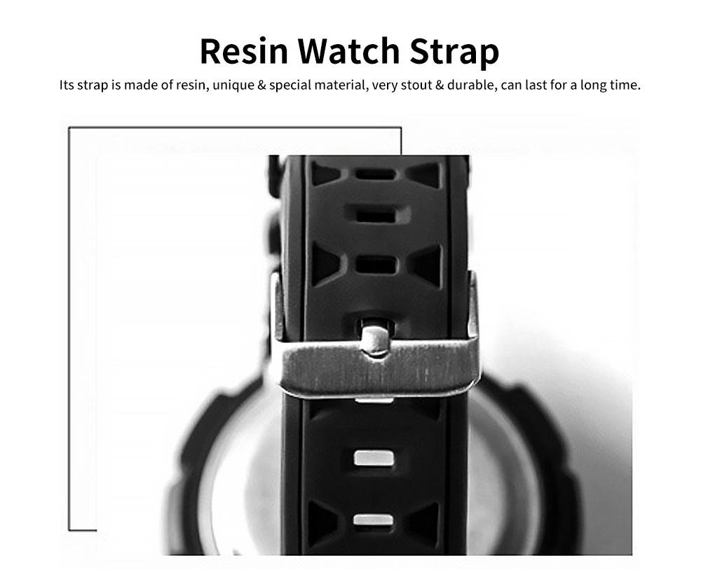 Men's Waterproof Sport Watch, Shockproof Digital Watch with Stainless Steel for Outdoor Use 5