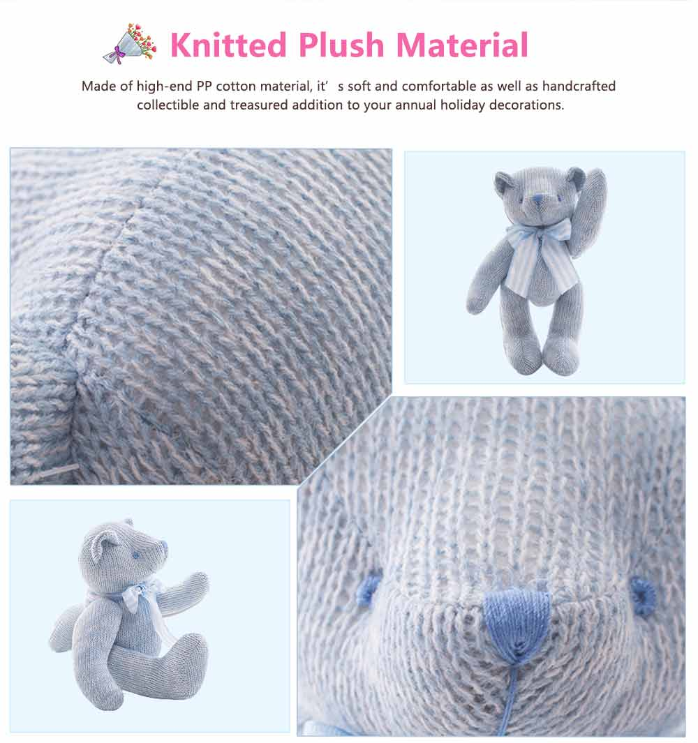 Cub Teddy Bear, Knitted Joints Bear Plush Toy 2