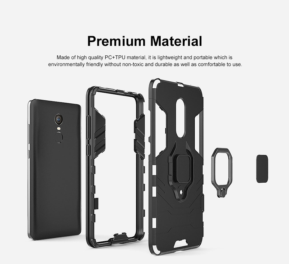 Phone Case With Ring Grip, Anti-Fall Smart Phone Shell For XIAOMI 1