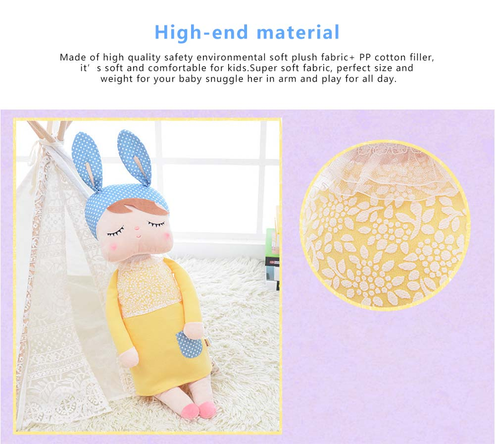 Metoo Plush Rabbits Angela Girl Cuddy Doll, Dreams Appease Doll Gifts for Toddlers 3