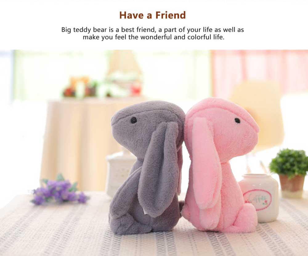 Elephant Stuffed Animal for Baby, Cute Rabbit Doll with Long Ears  5