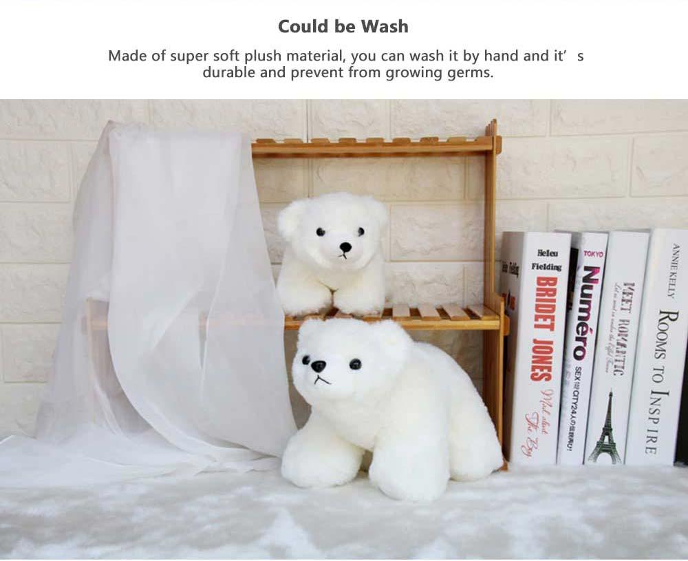 Polar Bear Stuffed Toy, Cute White Bear Doll Grab Doll Plush Toys for Children 2