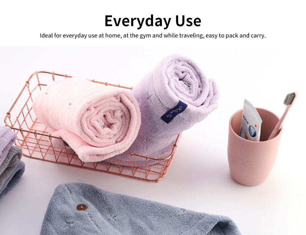 Cute Cartoon Pattern Hair Towel Cap, Ultra Absorbent Coral Velvet Hair Dry Towel  for Girls, Women, Kids 5