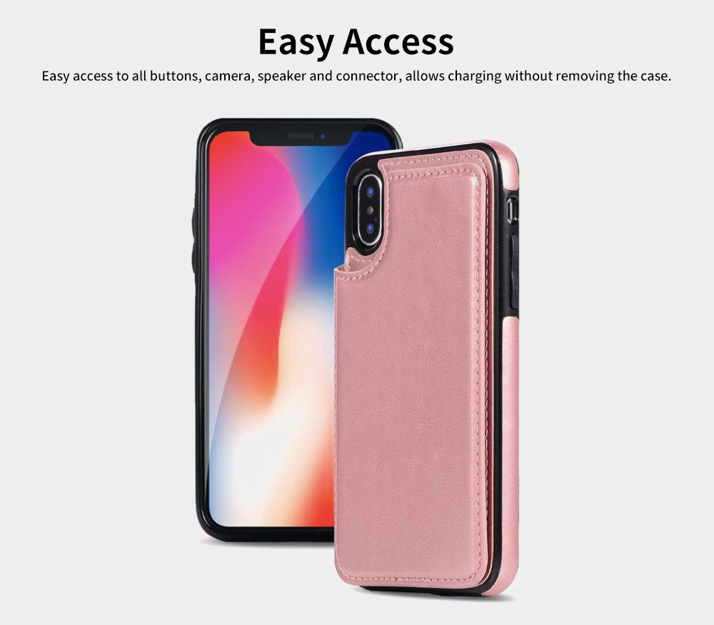 Multifunctional Leather Phone Case with Card Slot, Smart Phone Cover Case for iPhone XR, Max 7/8 2