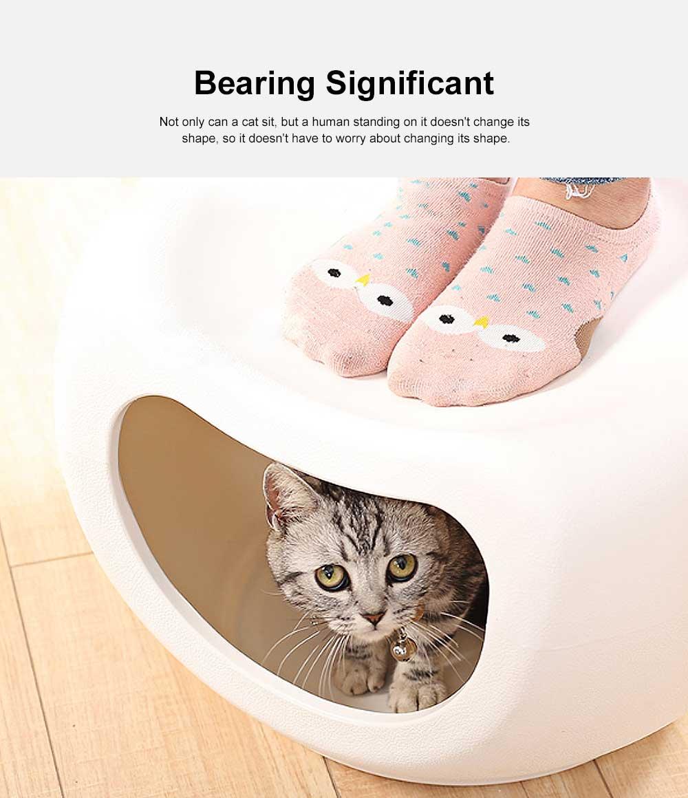 Semi Closed Cat Litter, Durable & Convenient Cat Cave Pet Bed 5